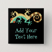 Dizzy Lizard - Custom Pin Button