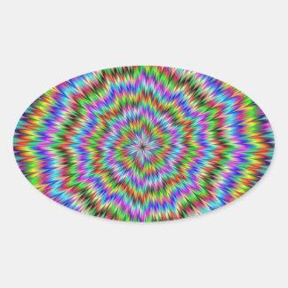 Dizzy Oval Sticker