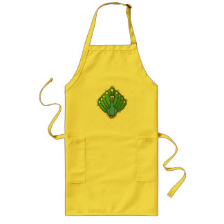 DIZZY PEACOCK LONG APRON
