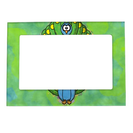 DIZZY PEACOCK MAGNETIC PICTURE FRAME