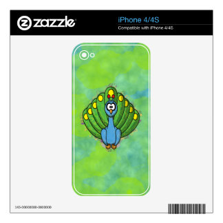 DIZZY PEACOCK DECALS FOR THE iPhone 4S