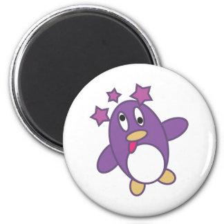 Dizzy Penguin Fridge Magnet