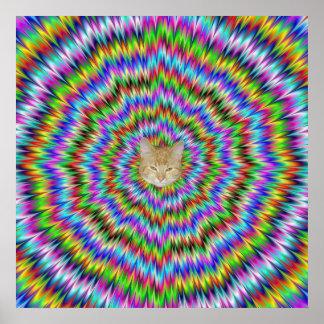 Dizzy Poster with Hypno Cat