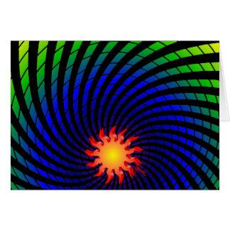Dizzy Sun Rainbow Blank Card