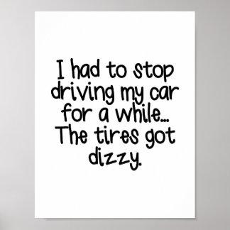 Dizzy Tires Poster