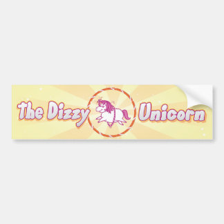 Dizzy Unicorn Bumper Sticker