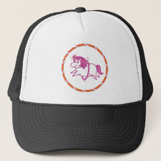 Dizzy Unicorn Logo Trucker Hat
