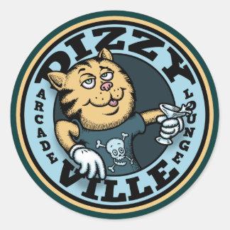 Dizzy Ville Classic Round Sticker
