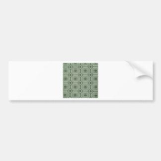 Dizzy Vintage Green Cool Antique Design Styles Car Bumper Sticker