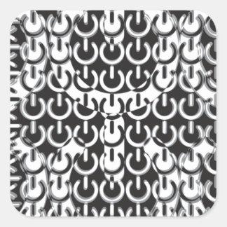 Dizzy with Power (Black & White) Square Sticker