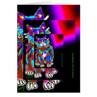 DizzyCats cards, featuring the crazy Psycho DizzyC Card