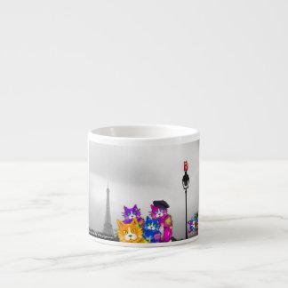 DizzyCats go to Paris espresso mug