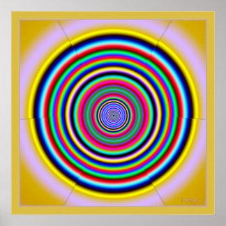 Dizzying Beaming Color Circles Poster