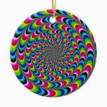 Dizzying Ceramic Ornament