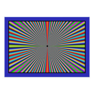 Dizzying Color Lines Tunnel Poster