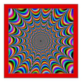 Dizzying Colors Spider Web Poster