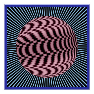 Dizzying Global Spin Optical Illusion Poster