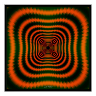 Dizzying Orange Tunnel Poster