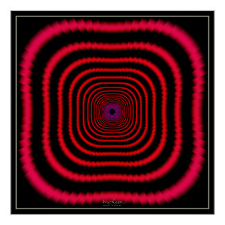 Dizzying Red Tunnel Poster