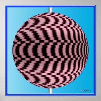 Dizzying Spinning Globe Optical Illusion Poster
