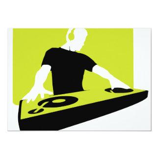 dj-311764 dj disc jockey green black deck records card