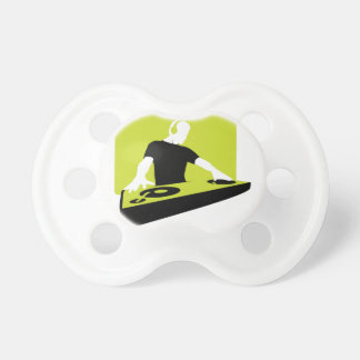 dj-311764 dj disc jockey green black deck records pacifiers