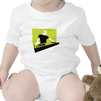 dj-311764 dj disc jockey green black deck records baby bodysuit