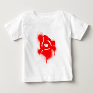 DJ 45 Adapter Graffiti - Music Vinyl DJs Turntable Baby T-Shirt