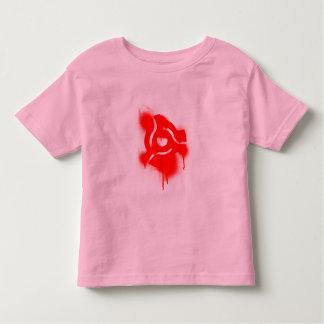 DJ 45 Adapter Graffiti - Music Vinyl DJs Turntable Toddler T-shirt