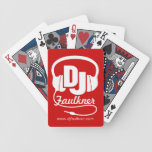 DJ add your name & contact red playing cards Bicycle Playing Cards