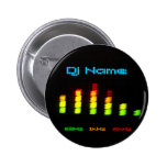 Dj Add your name Custom Equalizer Bar EQ 2 Inch Round Button