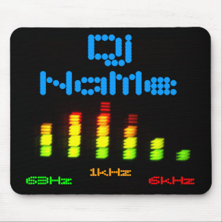Dj Add Your Name Custom Equalizer Bar EQ Mouse Pad