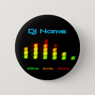Dj Add your name Custom Equalizer Bar EQ Pinback Button