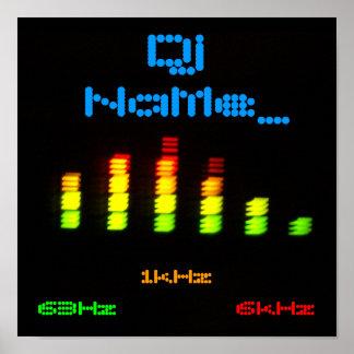 Dj Add your name Custom Equalizer Bar EQ Poster
