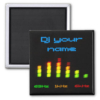 Dj Add your name Personal Equalizer Bar 2 Inch Square Magnet