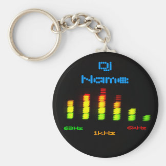 Dj Add Your Name Personal Equalizer Bar EQ Basic Round Button Keychain