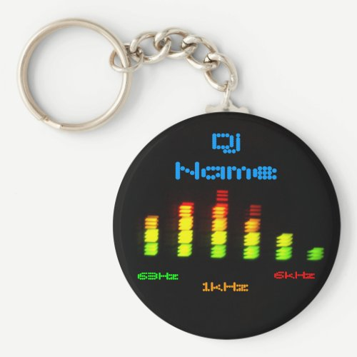 Dj Add Your Name Personal Equalizer Bar EQ Keychain