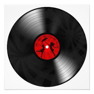 DJ ahorró anoche mi negro del disco de vinilo de l Fotografías