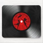 DJ ahorró anoche mi negro del disco de vinilo de l Alfombrillas De Ratón