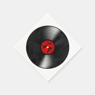 DJ ahorró anoche mi negro del disco de vinilo de Servilleta De Papel