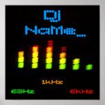 DJ añade su barra de encargo conocida EQ del equal Poster