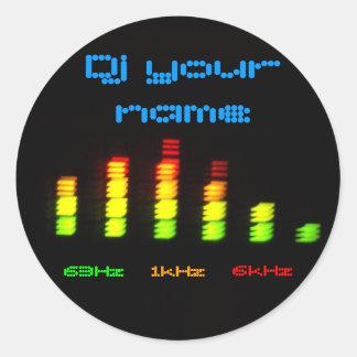 DJ añade su barra de encargo conocida EQ del equal Pegatinas