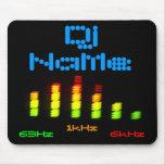 DJ añade su barra de encargo conocida EQ del equal Tapetes De Ratones