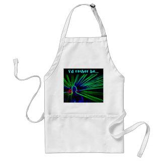 DJ and Laser Lights apron