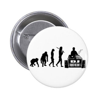 DJ and MC's vinyl lovers gear 2 Inch Round Button