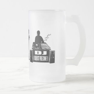 DJ and MC's vinyl lovers gear Frosted Glass Beer Mug