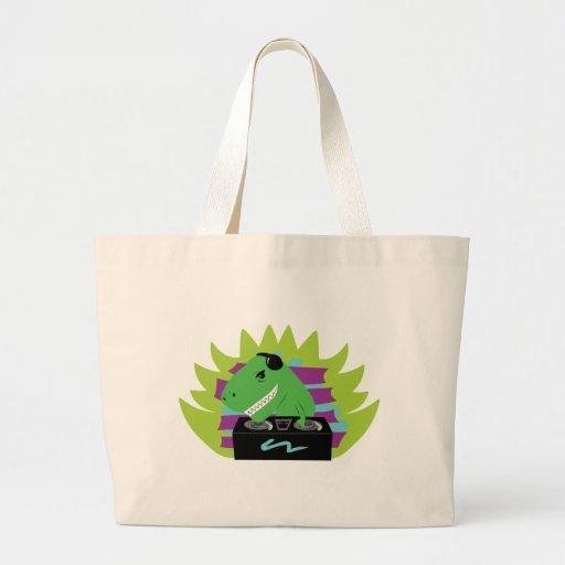 Dj-asaurus Rex Large Tote Bag