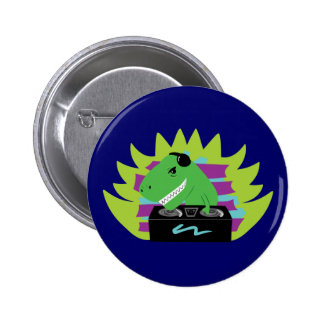 DJ-asaurus Rex Pin
