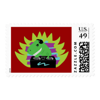 Dj-asaurus Rex Postage Stamp
