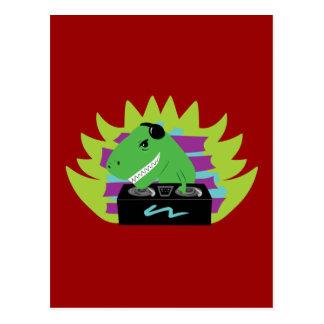 DJ-asaurus Rex Postales